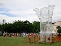 Vereinigte Buddy Bear-Ausstellung in Penang, Malaysia stockbilder