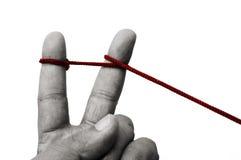 Vereinigte Finger Stockfoto