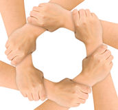 Vereinigte Hände Stockbild