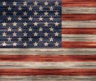 Vereinigte Staaten kennzeichnen hölzerne Beschaffenheit Stockbild