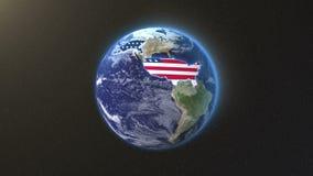 Vereinigte Staaten mit Titel bedecken mit Erde vektor abbildung