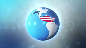 Vereinigte Staaten mit Titelhightech lizenzfreie abbildung