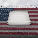 Vereinigte Staaten ummauern leeres Zeichen lizenzfreie abbildung