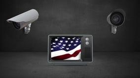 Vereinigte Staaten unter Überwachung lizenzfreie abbildung