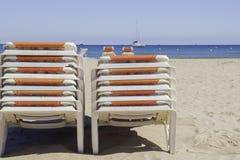 Vereinigte Wagenaufenthaltsräume auf dem Strand Stockfotografie