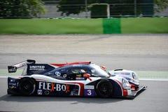 Vereinigter Autosports-Sport-Prototyp in der Aktion Stockfotografie
