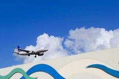 Vereinigter Jet in der Luft lizenzfreies stockbild