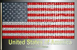 Vereinigter Staat von Amerika lizenzfreie abbildung