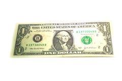 Vereinigter Staat von Amerika ein Dollar-Banknoten Stockbild