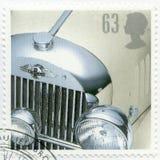 VEREINIGTES KÖNIGREICH - 1996: Shows Morgan Plus Four, Reihe klassische britische Sport-Autos Lizenzfreie Stockbilder