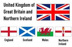 Vereinigtes Königreich und Nordirland Stockfotos