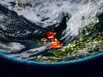 Vereinigtes Königreich während der Nacht lizenzfreies stockfoto