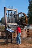 Vereinigtes Stempel-Tausendstel in Dahlonega Georgia Stockbild