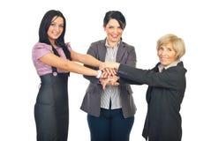 Vereinigtes Team der Geschäftsfrauen Lizenzfreies Stockfoto