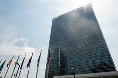 Vereinte Nationen, die in New York errichten Stockfotos