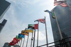 Vereinte Nationen, die in New York errichten Stockfoto