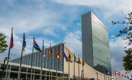 Vereinte Nationen, die in New York errichten Stockfotografie