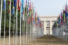 Vereinte Nationen in Genf Stockbild