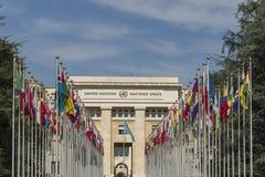 Vereinte Nationen Genfs die Schweiz Lizenzfreies Stockfoto