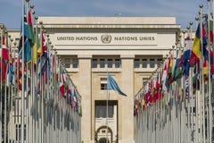 Vereinte Nationen Genfs die Schweiz Stockfotos