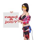 Vereis een baan Royalty-vrije Stock Foto's