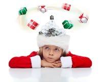 Vereis een idee van de Kerstmisgift? stock fotografie