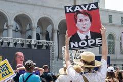 Verenig me voor Rechtvaardigheid Rally Los Angeles stock foto
