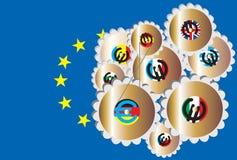 Verenigd Europa Stock Foto