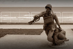 Verenigd krachtengedenkteken van D-dag in Normandië Stock Afbeelding