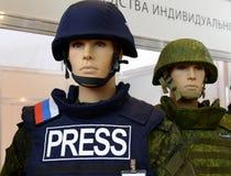 Verenigd modulair kogelvrij vest voor journalisten ` ZHUK ` royalty-vrije stock foto