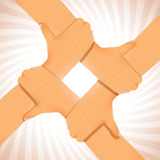 Verenigd Team Hands Cooperation Figure stock illustratie