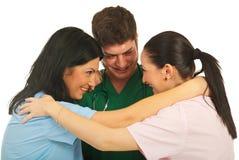 Verenigd team van artsen Stock Foto's