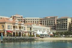 Verenigde Arabische Emiraten, Abu Dhabi, 2017, 10 Juni: Venetiaans Dorp Royalty-vrije Stock Fotografie