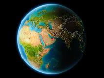 Verenigde Arabische Emiraten in de avond Stock Foto