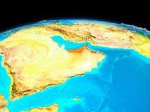 Verenigde Arabische Emiraten in rood Royalty-vrije Stock Afbeeldingen