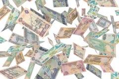 Verenigde dirhamregen van emiraten Royalty-vrije Stock Foto