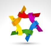 Verenigde handen. Conceptueel symbool Stock Foto's