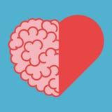 Verenigde hersenen en hart Royalty-vrije Stock Afbeeldingen