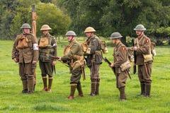 Verenigde Militairen van WW1 royalty-vrije stock afbeeldingen