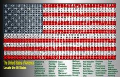 Verenigde Staat van Amerika vector illustratie