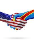 Verenigde Staten, Democratische Republiek van de samenwerking van het de vlaggenconcept van de Kongo royalty-vrije illustratie
