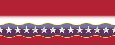 Verenigde Staten kleuren grens Royalty-vrije Illustratie