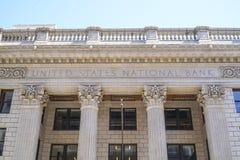 Verenigde Staten National Bank in Portland - PORTLAND - OREGON - APRIL 16, 2017 Stock Foto