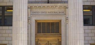 Verenigde Staten National Bank in Portland - PORTLAND - OREGON - APRIL 16, 2017 Stock Afbeeldingen