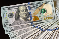 Verenigde Staten USD 100 de Ventilator van de Notastapel uit Stock Afbeelding