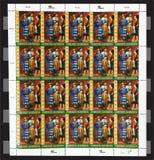 Verenigde UNHCR van Natiezegels Royalty-vrije Stock Foto