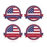 Verenigde Verklaarde vlag Royalty-vrije Stock Foto's
