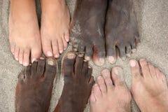 Verenigde voeten Stock Foto