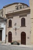 De bouw van Alcamo. Stock Foto