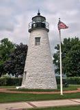 Överensstämma punktfyren på Havre de Hedra, Maryland Arkivbilder